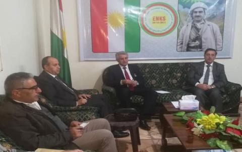 وفد من هيئة رئاسة المجلس الوطني الكوردي يجتمع مع رؤساء الدائرة الغربية
