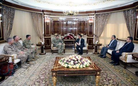 مسرور بارزاني يستقبل قائد العمليات الخاصة في العراق وسوريا