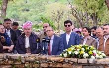 Nûneratiya ENKSê  li Hewlêrê serdana gorên Nemiran li Barzan kir