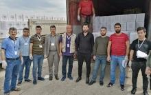 مؤسسة بارزاني الخيرية توزع معونات على لاجئي مخيم فايدة