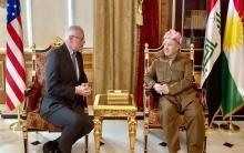 الرئيس بارزاني وجيفري يؤكدان على منع تعرض الكورد في كوردستان سوريا للمآسي