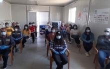 صحة دهوك تقيم محاضرة في مخيم بردرش تحت عنوان