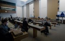 اختتام أعمال اليوم الأول من اجتماعات الدستورية في قصر الأمم بجنيف