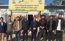 Hacî Kalo pêşwaziya hejmarek ciwanên Kurd ji derçûyên Zankoyên Duhokê kir