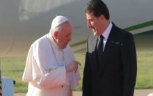 البابا فرنسيس لرئيس الاقليم: أنتم من استقبل المسيحيين بأحضان مفتوحة