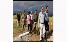 منظمة ديرك لـ PDK-S تزور قبر الشهيدين مهدي سليمان و فخرالدين محمد