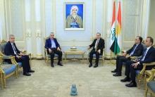 Encûmana Nişîmanî ya Kurdî li Sûryê li gel cêgirê serokê Perlemana  Herêma Kurdistanê civiya