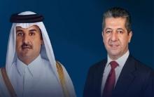 رئيس حكومة إقليم كوردستان وأمير قطر يجريان محادثات هاتفية