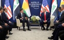 الرئيس الأمريكي يلتقي برئيس إقليم كوردستان في دافوس
