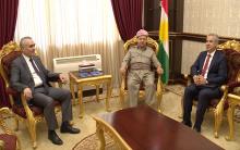 الرئيس مسعود بارزاني يستقبل وفد المجلس الوطني الكوردي في سوريا