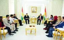 وفد من هيئة فرع إقليم كوردستان لاتحاد الطلبة يزور برلمان كوردستان كوردستان