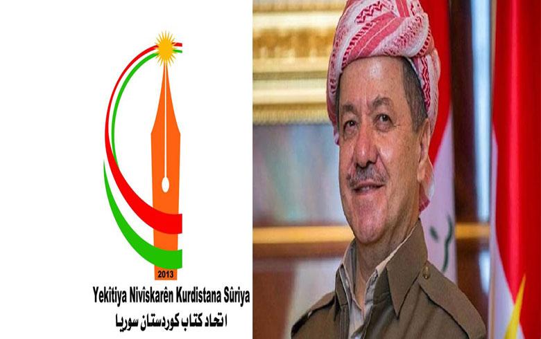 اتحاد كتاب كوردستان سوريا- فرع اروبا- يقدم الشكر لفخامة الرئيس مسعود البارزاني