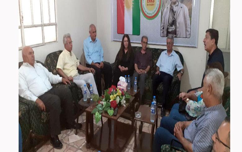 وفد من اتحاد كتاب كوردستان سوريا يزور مقر المجلس الوطني