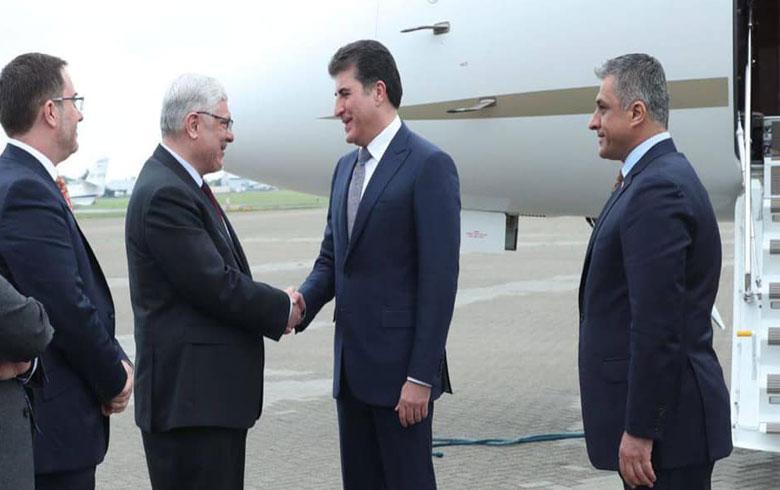 رئيس اقليم كوردستان يصل الى لندن