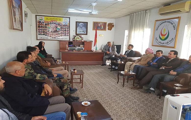 وفد من مؤسسة بيشمركة الدولية يزور مكتب الحزب الديمقراطي الكوردستاني – سوريا في زاخو